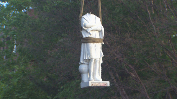 Boston Removes Christopher Columbus Statue From North End Park