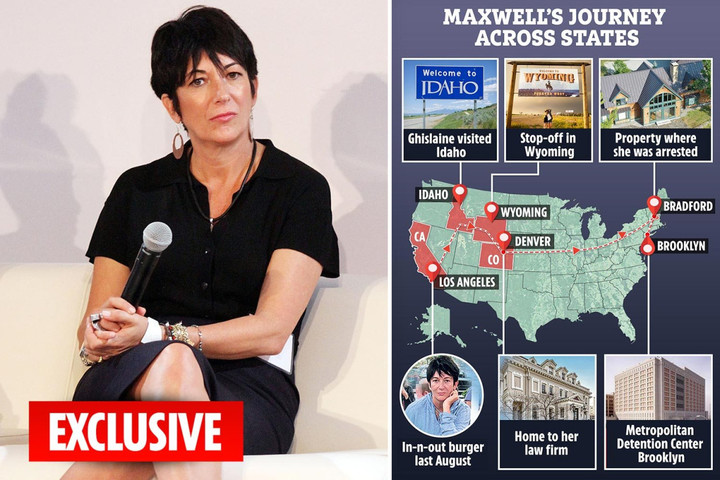 Ghislaine Maxwell moved house up to 36 times before the FBI caught her