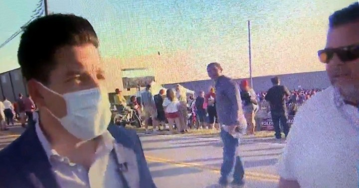 Man Outside Trump Rally Threatens Media On Camera: 'You Mother F**kers Are Gonna Pay, Someone Is Gonna Bomb You'