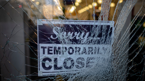 George Floyd Protests Escalate As Luxury Stores Looted In SoHo