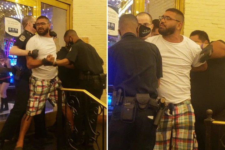 Las Vegas gambler without a mask is REMOVED from famous casino in handcuffs