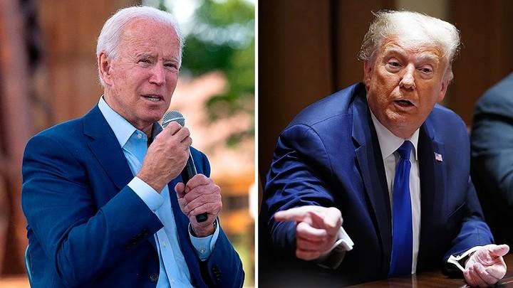 Trump mocks Biden for calling 'a lid' before 9 a.m.