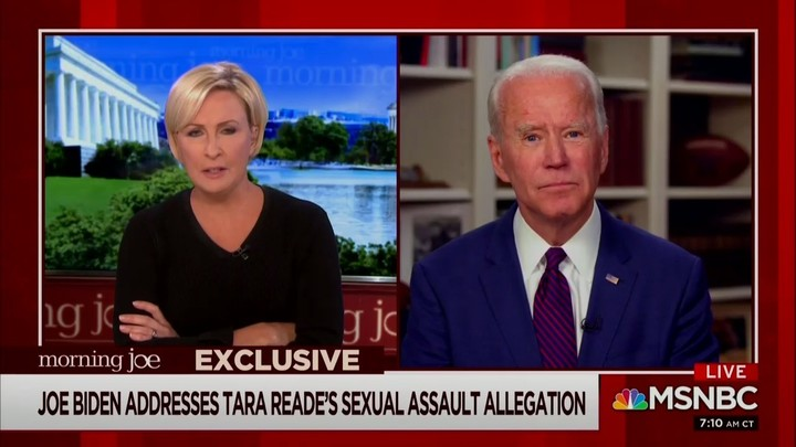 Mika Brzezinski Grills Biden on Tara Reade and Kavanaugh: 'Are Women to Be Believed Unless it Pertains to You?'