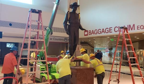 Texas Ranger Statue Removed At Dallas Love Field