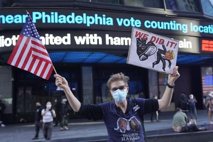 Americans flood streets to celebrate Joe Biden's win