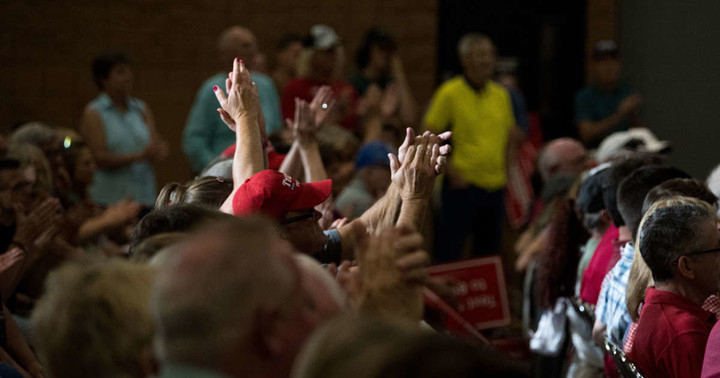 A surreal, submerged, conspiratorial, Trump-centered political universe still thrives