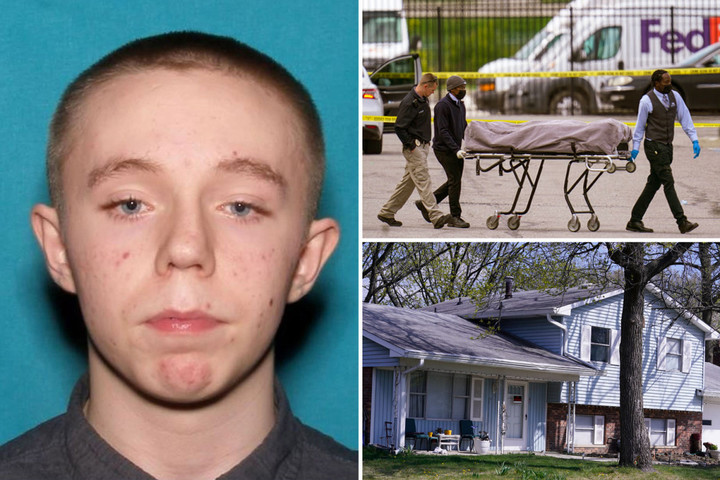 FedEx 'shooter' Brandon Scott Hole, 19, pictured as it's revealed 'he wanted suicide-by-cop' and was arrested twice