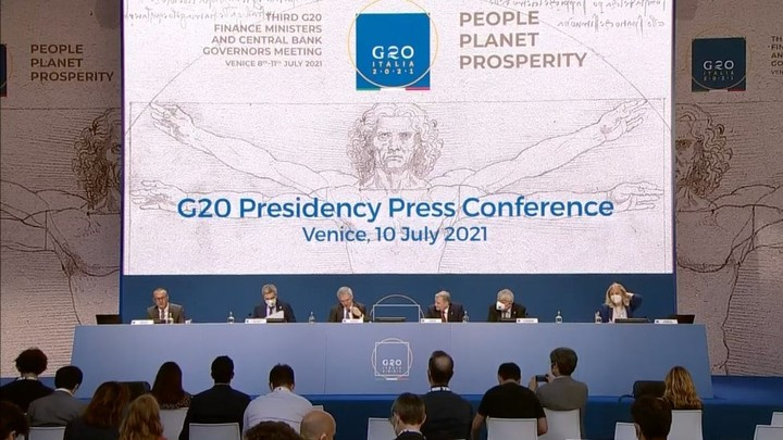 G-20 finance ministers back global tax overhaul