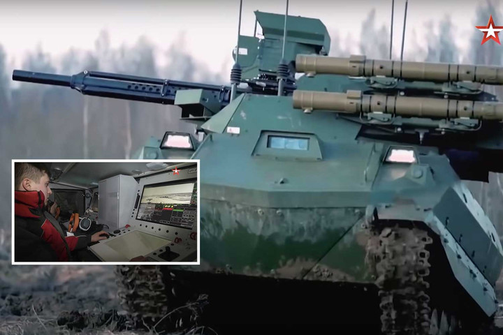 Putin's robot army to be sent to Ukraine border as troops 'ready for conflict'
