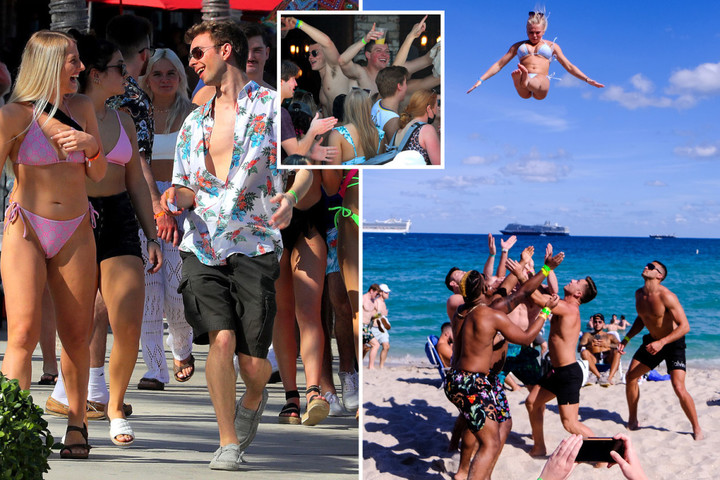 Florida beaches fill with Spring Breakers sparking fears of deadly Covid spike