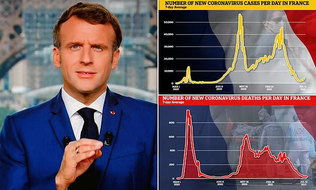 Macron announces Covid vaccination passes for bars and restaurants