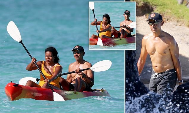 Barack and Michelle warm up for the holidays kayaking in Hawaii
