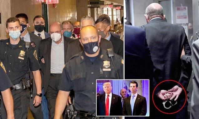 Trump CFO Allen Weisselberg is paraded through court in CUFFS
