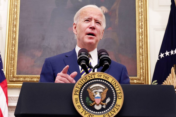 Biden says nothing can change the trajectory of the Covid pandemic over the next several months