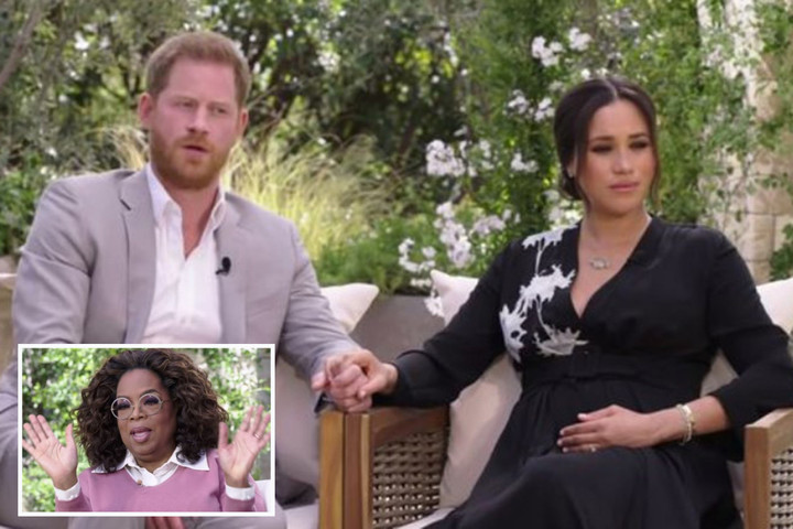 Harry tells Oprah he left UK as he feared Meghan would suffer same fate as Diana