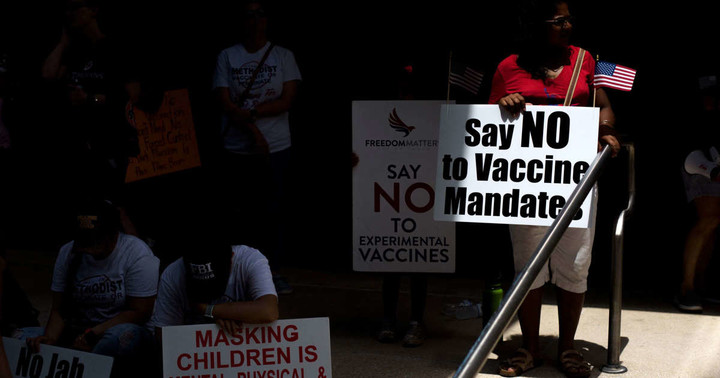 Vaccine hesitancy morphs into hostility, as opposition to shots hardens