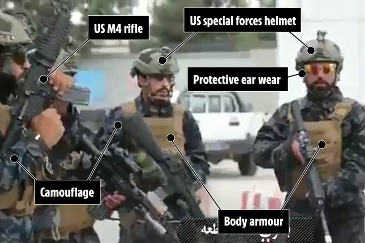 Taliban mocks West with video showing fanatics in 'US military gear'