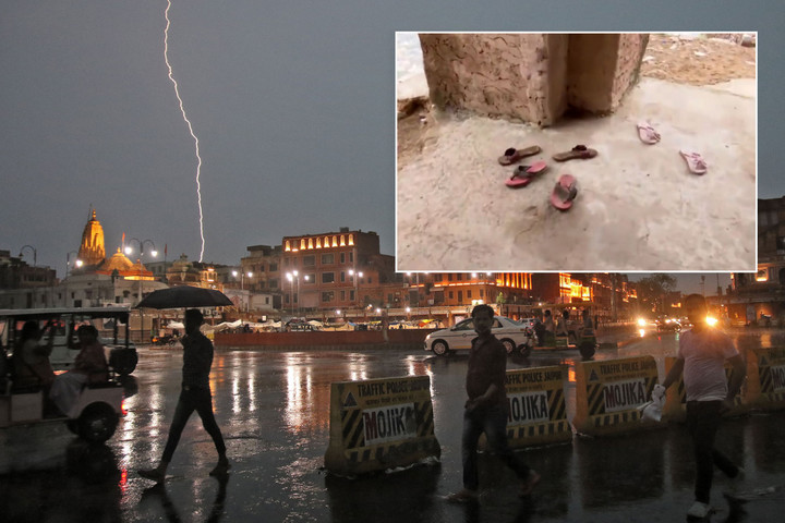 Lightning strike kills 18 selfie takers on tourist tower in Jaipur