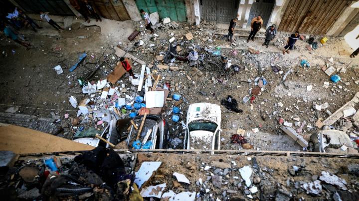 Palestinians go on strike amid airstrikes, rocket fire