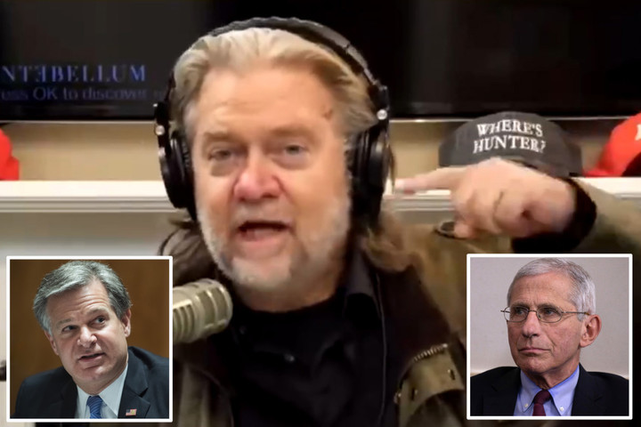 """Steve Bannon says he 'wants Fauci and FBI boss """"BEHEADED""""' in unhinged attack"""
