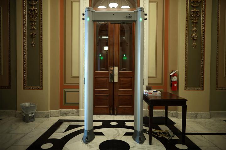 House installs metal detectors to check congressional lawmakers after Capitol riots