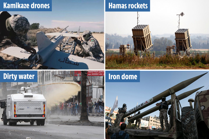 Inside Hamas & Israel's weapons from rockets & kamikaze drones to 'skunk water'