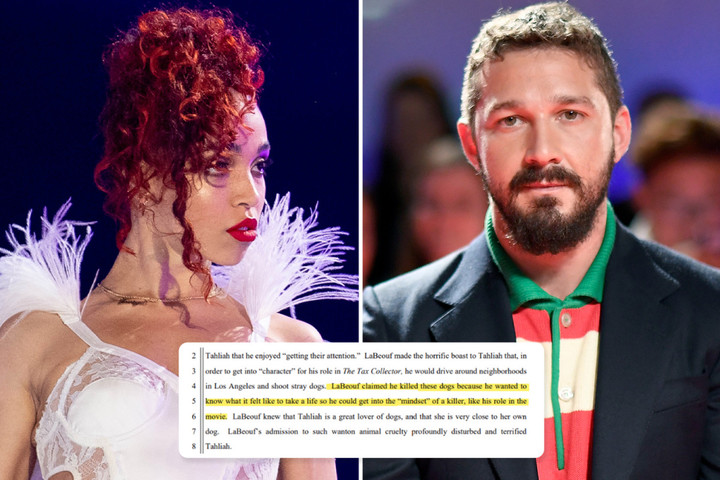 Shia LaBeouf bragged about 'shooting and killing stray dogs' while preparing for film role, ex FKA Twigs claims in suit