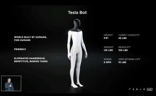 Musk: The Tesla Bot is coming