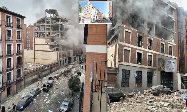 Three people killed as 'gas explosion' destroys building in Madrid