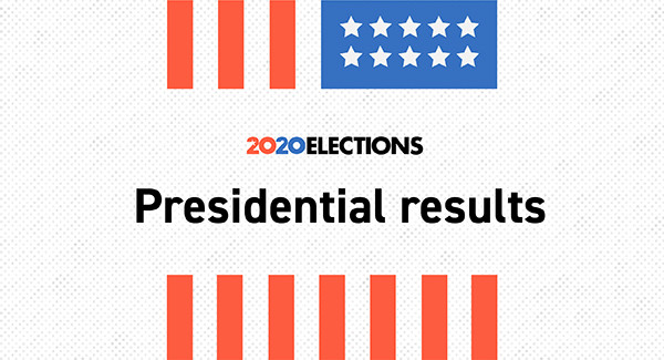 Live election results: The 2020 presidential race