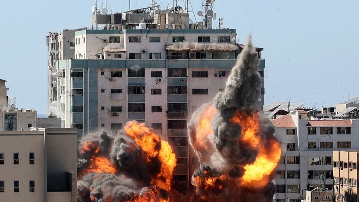 White House says safety of journalists is 'paramount' after Gaza building bombed