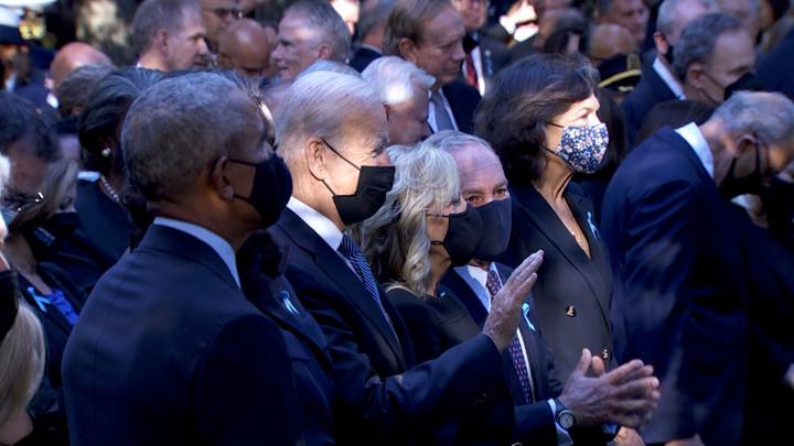 Biden attends 9/11memorial service in lowerManhattan
