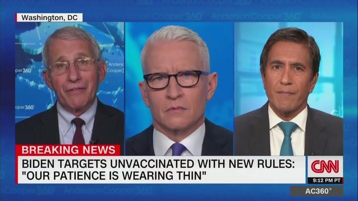 Fauci Calls Biden's Vaccine Mandate 'Somewhat Moderate'