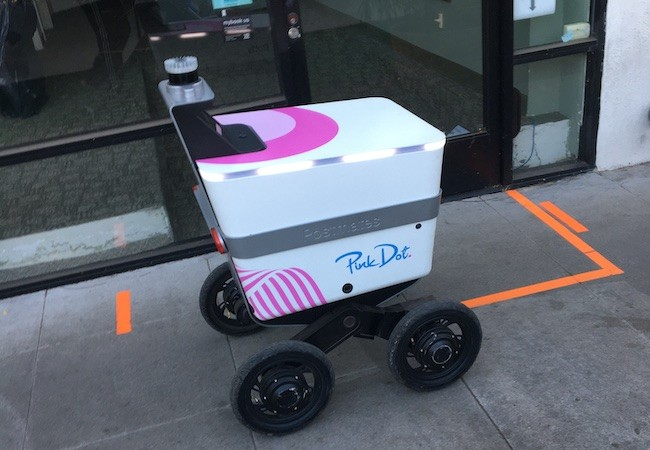 Pink Dot Delivery Robots Cruise West Hollywood