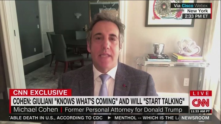 Michael Cohen Predicts Giuliani Will Flip on Trump: Rudy Would Give Him Up 'In a Heartbeat'