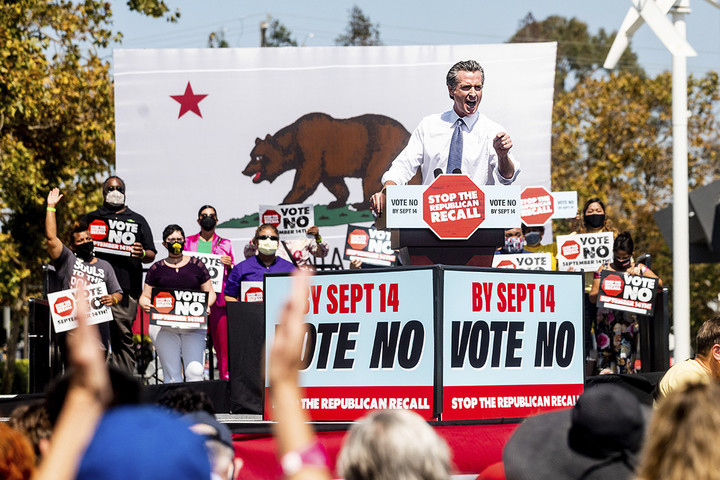 California women are showing up for Newsom
