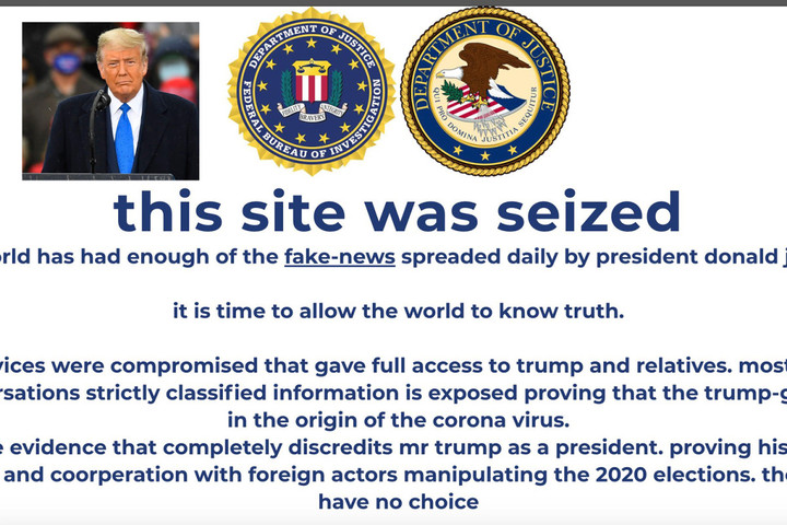 Trump 2020 campaign site HACKED in cryptocurrency scam as chilling message warns 'classified information is exposed'