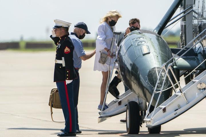 Jill  Biden wears medical boot after foot injury in Hawaii