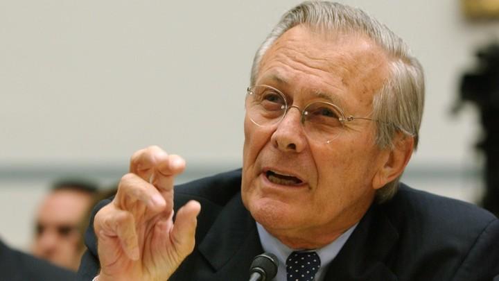 Donald Rumsfeld dies at 88. The former defense secretary oversaw Iraq, Afghanistan wars