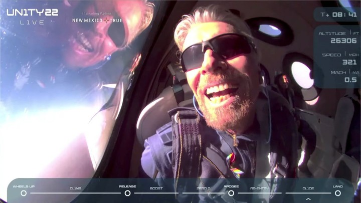 Richard Branson takes flight with his space company Virgin Galactic